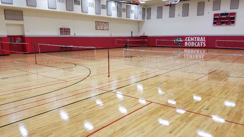 Central High School completed sports floor
