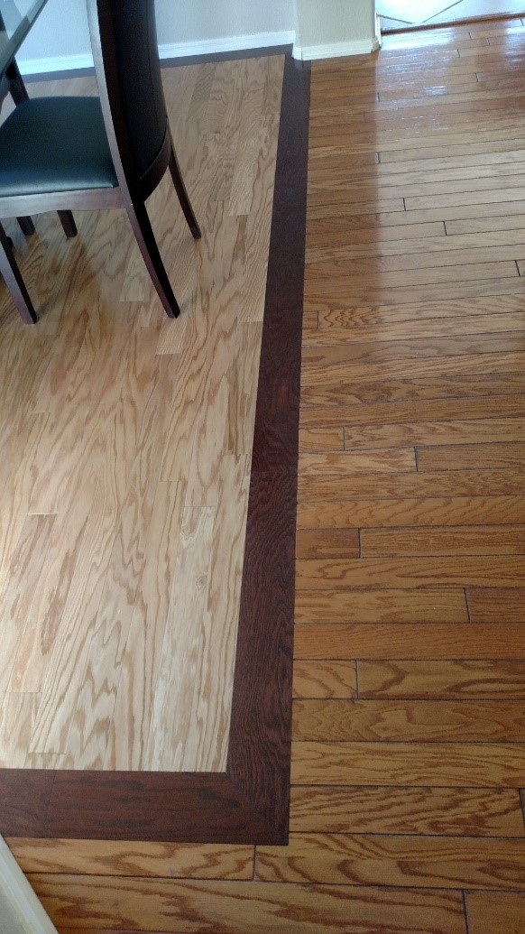 Hardwood floor inlay