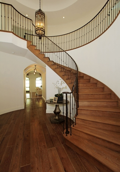 Hardwood Flooring on Staircase